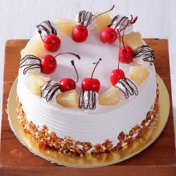Pineapple cake with butterscotch chunks