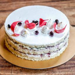 Three layered Vanilla cake