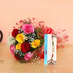 mix roses rakhi combo