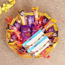 10 Dairy Milk, 10 Five Star, 2 Dairy Milk Silk, 2 Rakhi