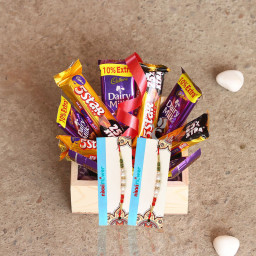 5 Dairy Milk, 5 Five Star,  2 Rakhi