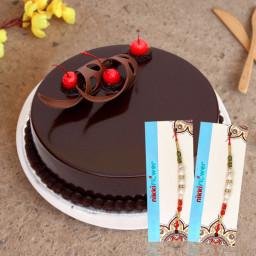 1/2 Kg Chocolate Cake, 2 Rakhi
