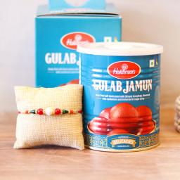 1 Kg Gulab Jaumun, 1 Rakhi