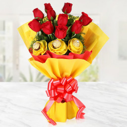 rocher and roses bouquet