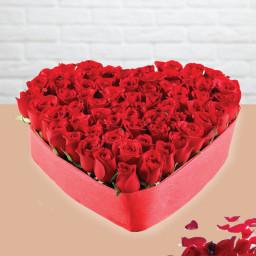Heart Shape Bouquet 50 Roses