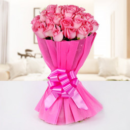 25 Pink Rose Bouquet