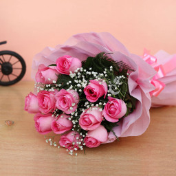 8 Pink Roses