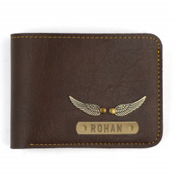Dark Brown Personalised Wallet