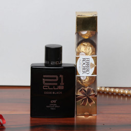 Combo Gift of Perfume With 4Pcs Ferrero Rocher Chocolate