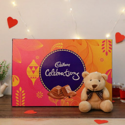 Combo Gift of Teddy with Celebration Chocolate