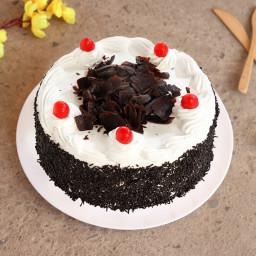 Choco Vanilla cake with cherries
